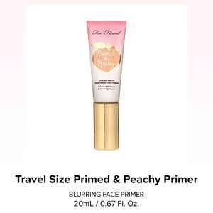 Too Faced Primed & Peachy 🍑 Cooling Matte Skin Perfecting Primer - travel size